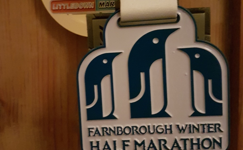 Farnborough Winter Half Marathon Medal